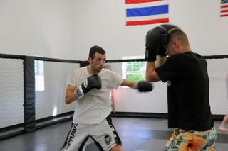 Tom and chris sparring